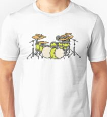Pixel Yellow Glo Drums Unisex T-Shirt