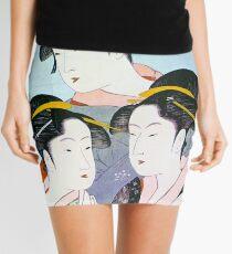Kitagawa Utamaro - Three Beauties of the Present Day Mini Skirt