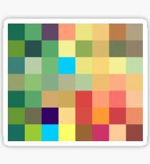 color squares background Sticker