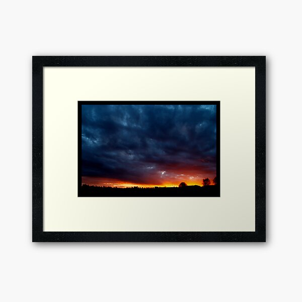 Trouble On The Horizon Framed Art Print