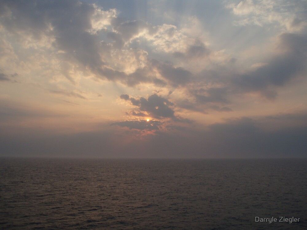 Sunset at Sea 2 by Darryle Ziegler