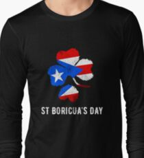 St Boricua's Day St Patrick's Day Puerto Rico Irish Long Sleeve T-Shirt