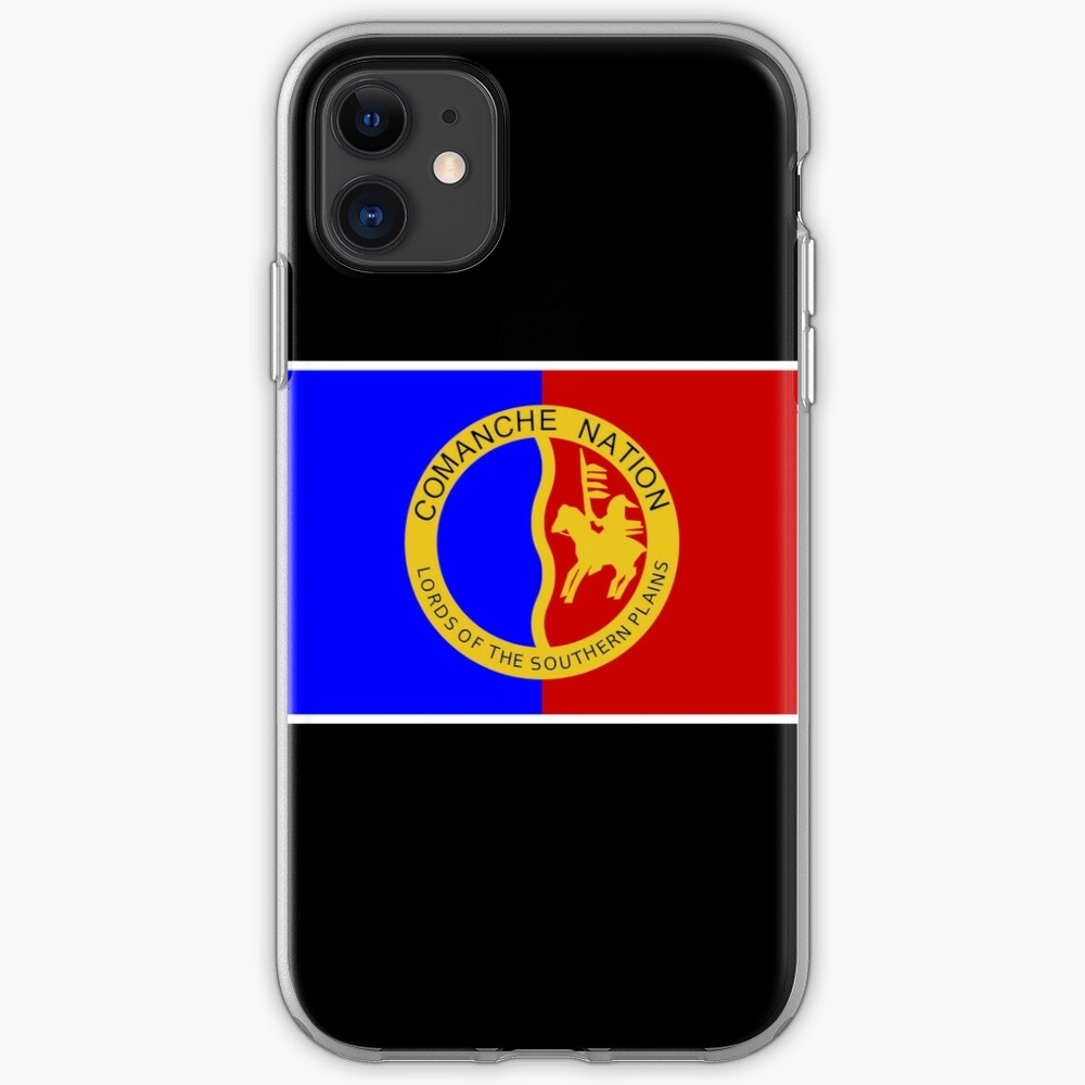 Comanche Nation Flag Iphone Case Cover By Impactees Redbubble