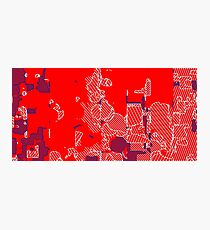 graffiti drawing and painting abstract in red and blue Photographic Print