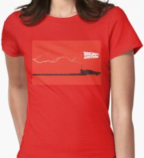 Back to the Future- Time Machine Struck By Lightning Women's Fitted T-Shirt