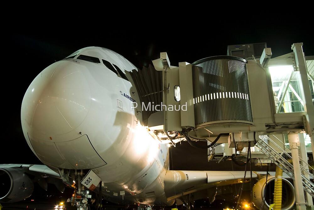 A380 Night  by P Michaud