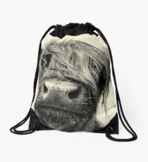 Highland Cow Drawstring Bag