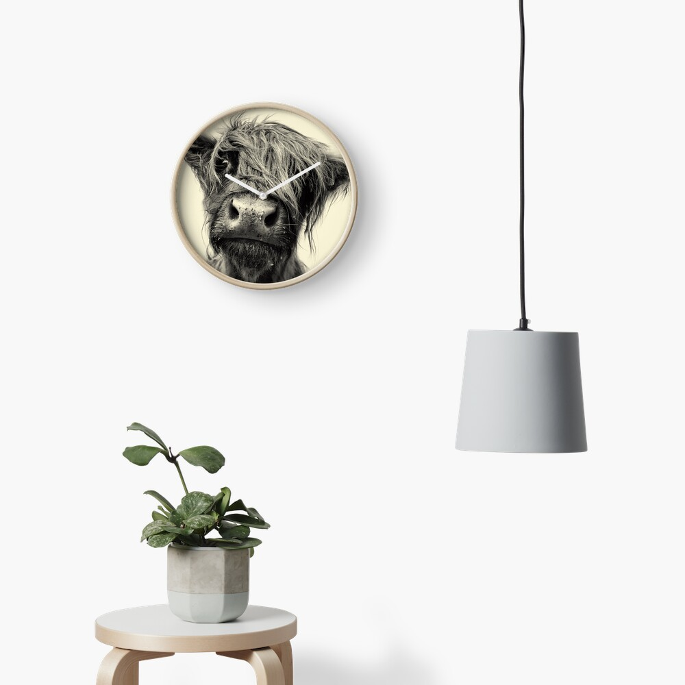 Highland Cow Clock