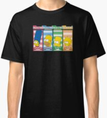 Simpsons arcade character select Classic T-Shirt