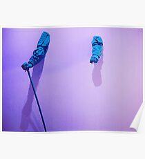 purple blue hands Poster