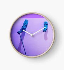 purple blue hands Clock