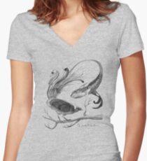 Hybird Women's Fitted V-Neck T-Shirt