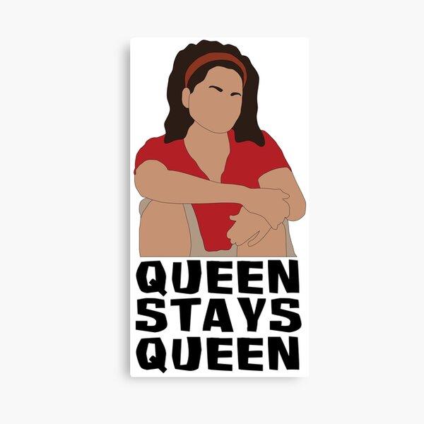Sandra Diaz-Twine Queen Stays Queen Canvas Print