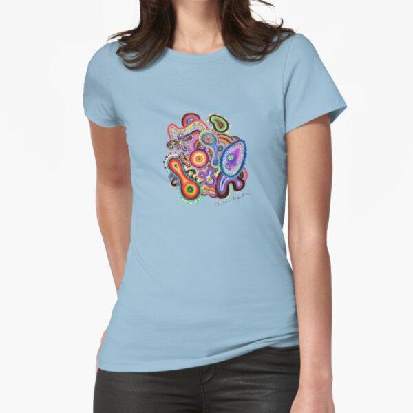 Amoeba Art Fitted T-Shirt