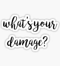 Damage? Sticker