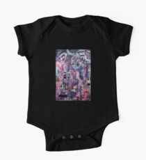Birthday Abstract Collage Painting One Piece - Short Sleeve