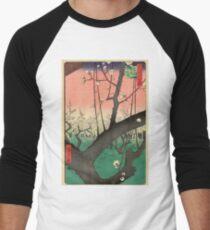 Japanese Art - One Hundred Views of Edo 30 - Plum Garden Kameido (1857) T-Shirt