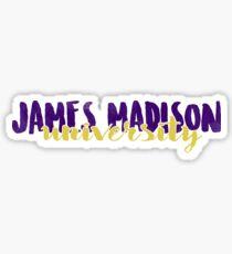 JMU Brush Script Sticker