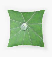 Nasturtium Dew Throw Pillow