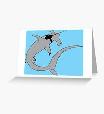 Sharks with lasers on their heads Greeting Card