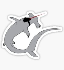 Sharks with lasers on their heads Sticker