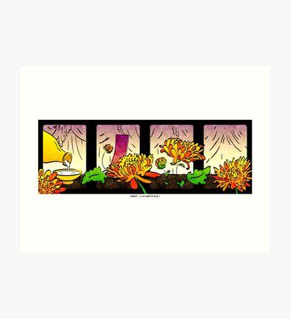 Hanami (September Chrysanthemum) Art Print
