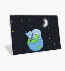 Cute Koala Hugging Earth at Night Illustration Laptop Skin
