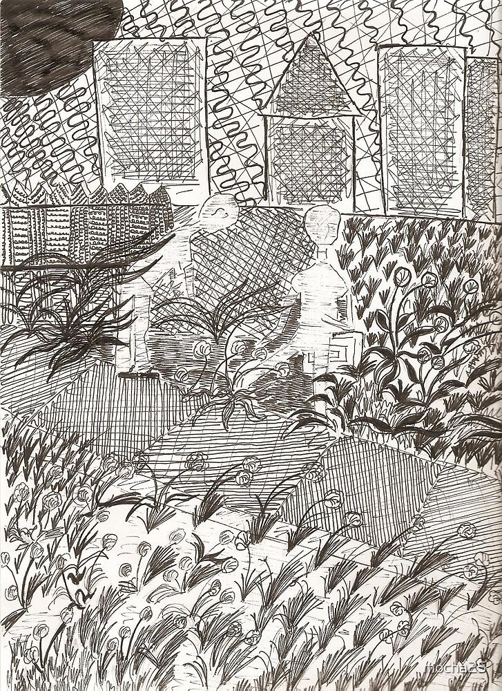 Ghetto Garden Drawing  by mocha25