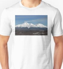 Avachinsky Volcano and Kozelsky Volcano, panorama view of volcanoes of Kamchatka Peninsula Unisex T-Shirt