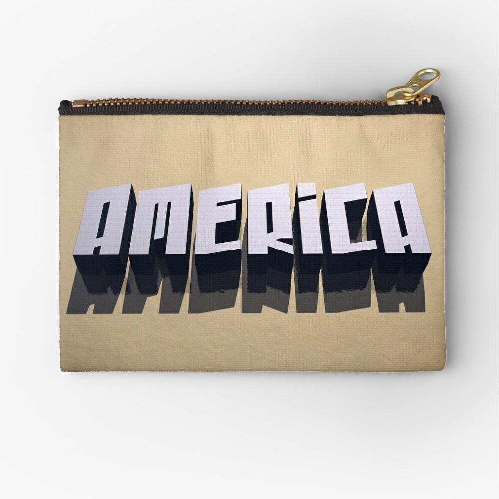 America In 3D Zipper Pouch