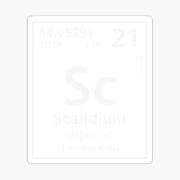 Scandium Element Sticker
