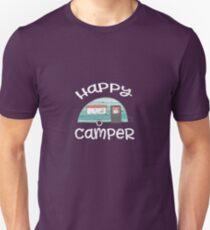 Happy Camper Retro Trailer RV Caravan T-Shirt T-Shirt