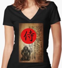 Samurai 2   Women's Fitted V-Neck T-Shirt