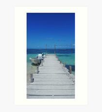 Dock in Paradise Art Print