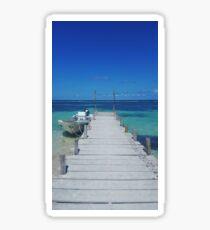Dock in Paradise Sticker