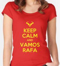 Keep Calm and Vamos Rafa Women's Fitted Scoop T-Shirt