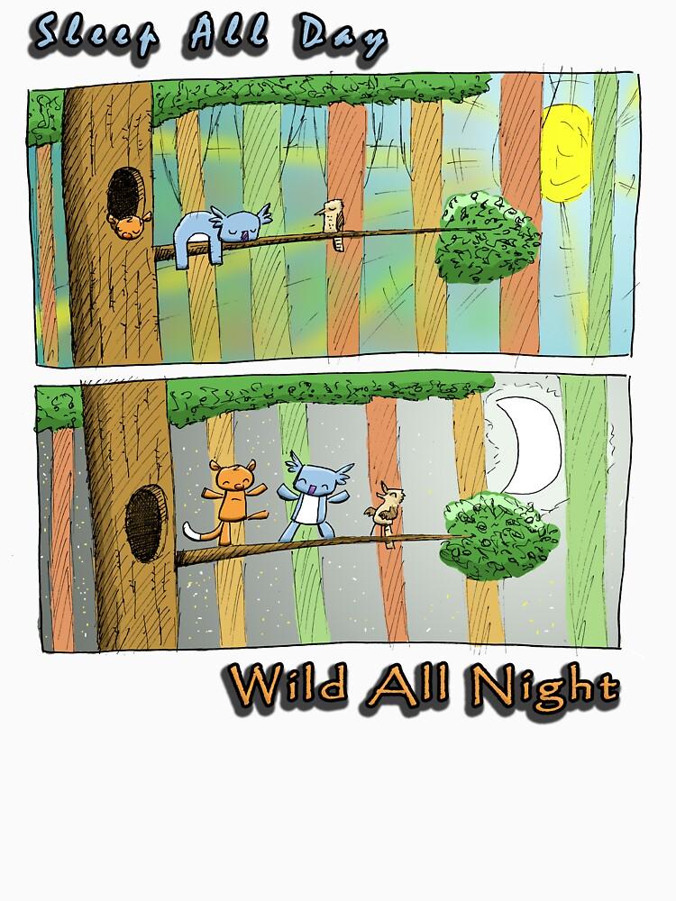 Sleep All Day - Wild All Night (Australian Wildlife) by eddcross