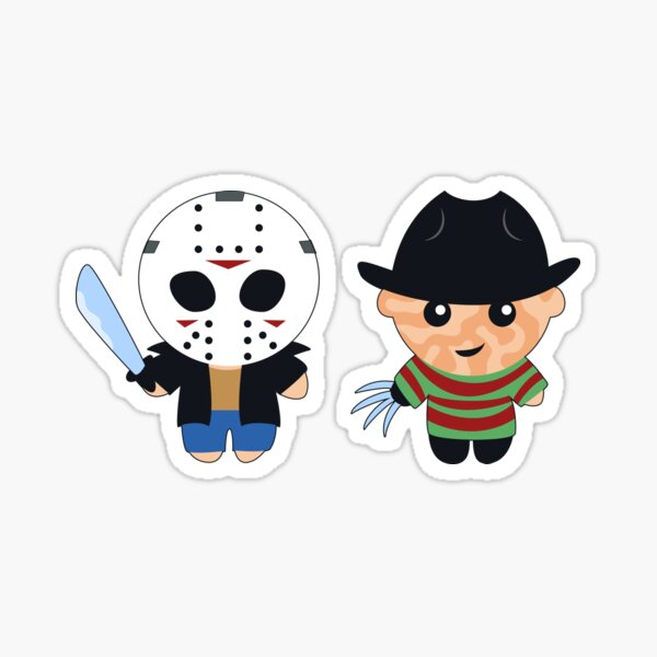 Kid Jason and Kid Freddy Sticker