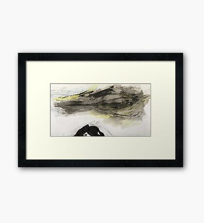 ominous cloud...storm over black peak Framed Print