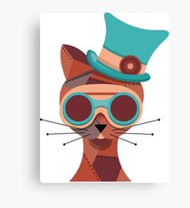 Steampunk Cat Canvas Print