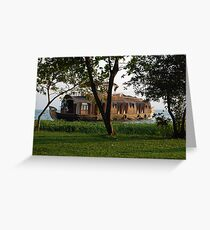 Traditional Kerala Houseboat Greeting Card