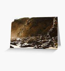 Seaspray rocky shore Greeting Card