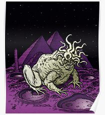 Pyramids on the Moon Poster