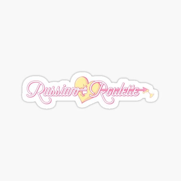 Red Velvet Russian Roulette Logo Sticker
