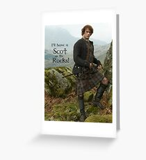I'll have a Scot on the Rocks!  Greeting Card