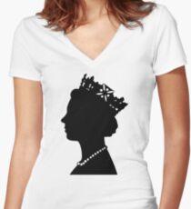 Queen Elizabeth II Since 1952 Women's Fitted V-Neck T-Shirt