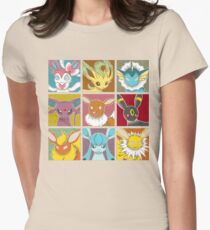 Pop Eeveelutions Womens Fitted T-Shirt