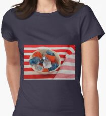 Red, white and blue patriotic ice cubes Women's Fitted T-Shirt