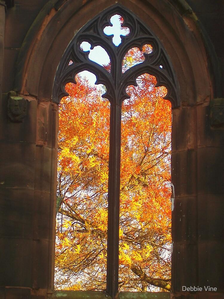 Autumn window by Debbie Vine
