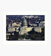 Capitol Dome Restoration Project - Washington D.C. - MMXIV Art Print